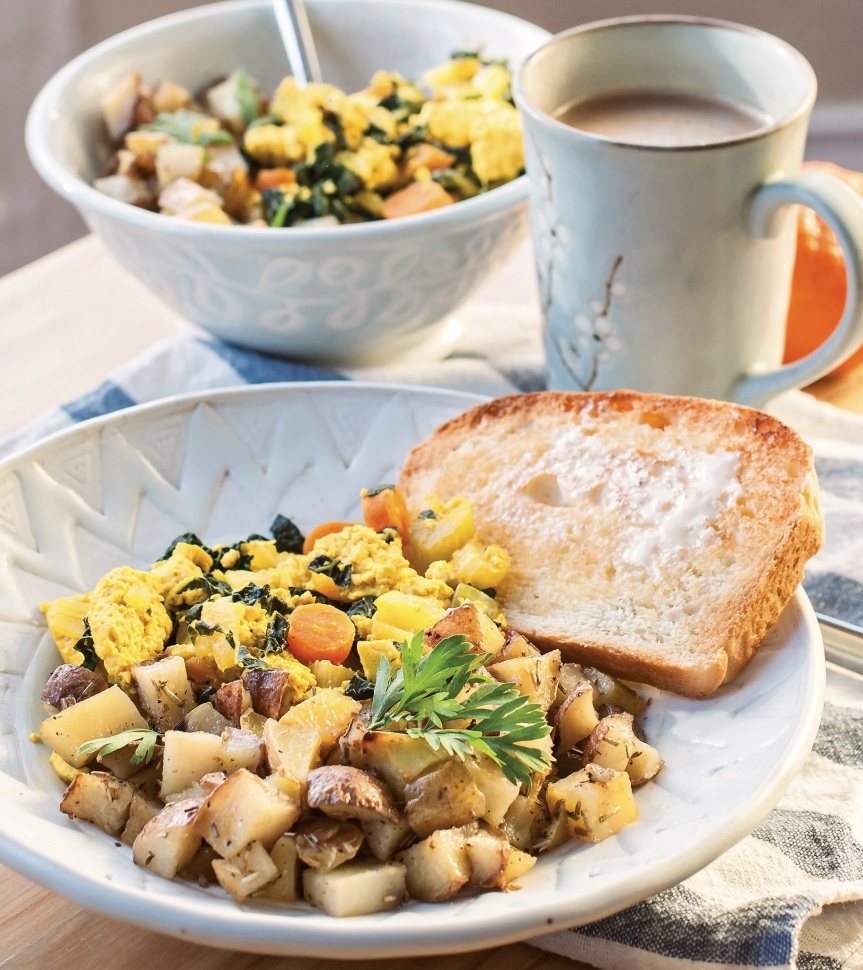 Tofu Breakfast Scramble w Roasted Potatoes